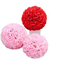 $enCountryForm.capitalKeyWord NZ - 16 Inch 40 cm Wedding silk Pomander Kissing Ball flower ball decorate artificial flower for wedding garden market decoration