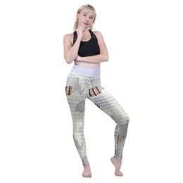 high space leggings NZ - Lady High Waist Leggings Geometric Space Friends 3D Graphic Full Printed Skinny Trousers Girl Workout Jeggings Woman Fitness Pants (Y600508)