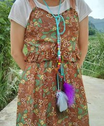 $enCountryForm.capitalKeyWord NZ - New Wholesale Hair Accessories Women Headband Feather Pendant Tassels Rope Belt Waist Band Feather Tassels Hairband