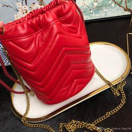 $enCountryForm.capitalKeyWord Australia - Fashion Designer Woman Handbags High Quality Genuine Leather Cross body Bucket Bag Mini Strap Shoulder Drawstring Bags Love Purse Tote bags