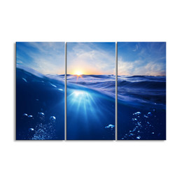 $enCountryForm.capitalKeyWord Australia - 3 pieces of HD print submarine surface canvas painting poster and wall art living room picture HDBM3-1G