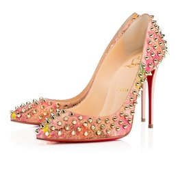 69df9f28093 Christian Louboutin CL Fashion sequined flower high heel red bottom ladies wedding  shoes pointed high heels sexy ladies high heels 34-42