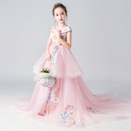 $enCountryForm.capitalKeyWord UK - Princess skirt girl host catwalk trailing costume 2019 new birthday wedding dress big boy evening dress
