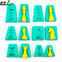 $enCountryForm.capitalKeyWord Australia - decorating tools EZLIFE 6pcs Lot Silicone Chess Cake Fondant Mold Mould Chocolate Cake Decorating Tool Handmade Diy Baking Tools Dropship