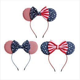 $enCountryForm.capitalKeyWord Australia - USA National Flag Headband Cute Child Hairs Band Baby Bow Hair Hoop Festival Decoration Fashion Girl Princess Hair Accessiones DHL EFJ341
