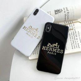 $enCountryForm.capitalKeyWord Australia - Brand design printing letter H mobile phone case for iphone Xs max Xr X 7 7plus 8 8plus 6 6plus TPU soft shell