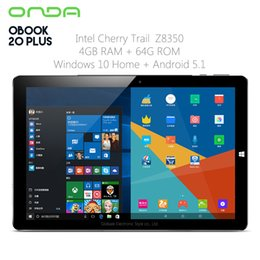 Intel Tablet Pc Os Windows Australia - Original Onda OBook 20 Plus Tablet PC 10.1 inch Dual OS Windows 10 Android 5.1 Intel Z8350 Quad Core 4GB RAM 64GB ROM