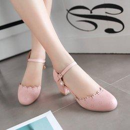$enCountryForm.capitalKeyWord NZ - Big Size 11 12 ladies high heels women shoes woman pumps Round-headed buckle single shoe woman
