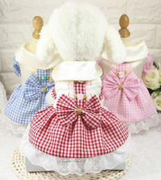 $enCountryForm.capitalKeyWord Canada - Spring and summer new pet dog, cat costume, plaid skirt, vintage princess dress.