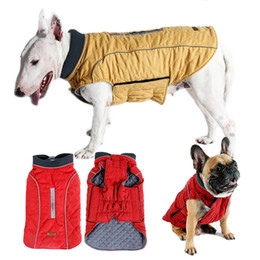 bulldog clothes NZ - XS-3XL Pet Dog Clothes Winter Dog Jacket Water Repellent Reflective Diamond Quilted Coat for Small Medium Large Dogs Bulldog Pug T200101