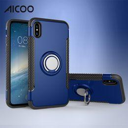 Опт Aicoo Ring Автомобильный держатель телефона Подставка для кейса Магнитная крышка мобильного телефона для iPhone XS MAX X 8 Plus Samsung S10 5G S9 Huawei P30 Pro Oneplus OPP