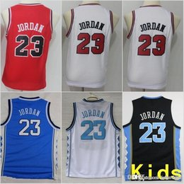 3f3ba8730974 Youth Kids Chicago Michael 23 Bulls Jerseys North Carolina Tar Heels  Basketball Stitched Size S-XL