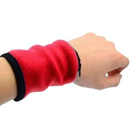 Sports Wrist Pouch UK - Unisex Wrist Wallet Pouch Band Fleece Zipper Running Travel Gym Cycling Safe Sport Wrist Band Bag Coin Key Storage