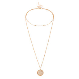Bridal Jewelry Sets United Fanala Nendants Set For Woman Casual Hollow Geometric Shape Necklaces Nendants Woman Wedding & Engagement Jewelry