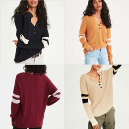d11d2616223 Soft Blue Patchwork Fashion Sweater Women Classical Sexy Button Knitted  Jacket Hot Lady Stripe Clothing Street Trend Hot Sale 27yda Ww