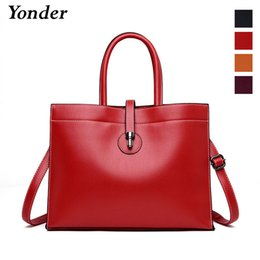 $enCountryForm.capitalKeyWord NZ - Yonder shoulder bag female designer women leather handbags large tote bag ladies high quality top-handle genuine leather red