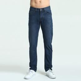 32 38 Jeans Australia - Jeans Mens Brand High Quality Stretch Blue Denim Jeans Fashion Pleated Pocket Trousers Pants Size 30 32 33 34 36 38 40