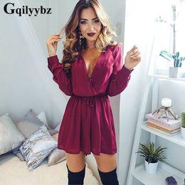 568641881d0e Gqilyybz band v neck summer women romper black playsuit plus size body suit  womens clothing long sleeve jumpsuit