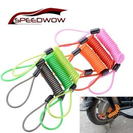 rope wheel Australia - SPEEDWOW Motorcycle Spring Rope Wheel Locks Bicycle Disc Lock Security Anti-Theft Cable Reminder Cable Motorbike Accessories