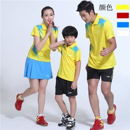 Sportswear T Shirt Badminton Australia - LND6 Li Ning Badminton Suit Sportswear Men & Women & Kids Short Sleeve T-shirt Leisure Running Basketball casual wear Table tennis LN16302