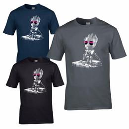 69d55b2f DJ Baby Groot T-Shirt - Headphones Music Guardians Party Disco yoda Mixing  DecksFunny free shipping Unisex Casual top