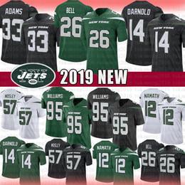 XXXl football jerseys online shopping - New York Jamal Adams Jets Sam Darnold Football Jersey Le Veon Bell Quinnen Williams C J Mosley Joe Namath