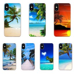 iphone spray Canada - Custom Sea Beach Spray Palm Trees Tropical For Huawei Honor Mate 7 7A 8 9 10 20 V8 V9 V10 V30 P40 G Lite Play Mini Pro P Smart
