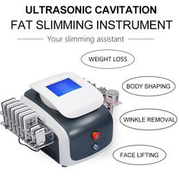 UltrasoUnd machines online shopping - 2019 NEW RF cavitation ultrasound vacuum cavitation slimming machine ultrasonic lipo cavitation weight loss machine fat Slimming Machine