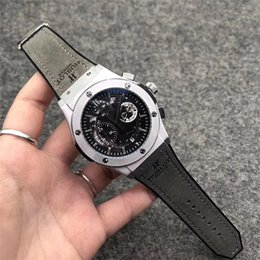 Men's wrist watch multi-function high quality top luxury brand quartz movement men's large dial sports watch military watch from secrets camera suppliers