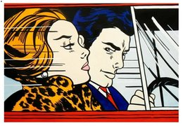 $enCountryForm.capitalKeyWord Australia - In the Car, 1963 by Roy Lichtenstein,HandPainted &HD Print Pop Wall Art oil Painting On Canvas Museum Quality Home Decor Multi Sizes R32.46