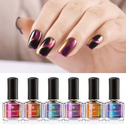 BORN PRETTY 3D Magnetic Glitter Nail Polish 6ml Holographic Chameleon Cat Eye Nail Varnish Magnet Nail Lacquer Black Base Needed on Sale