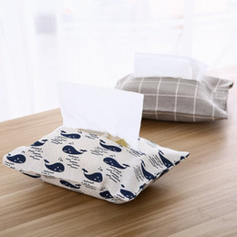 $enCountryForm.capitalKeyWord Australia - Cute Portable Cotton and Linen Tissue Box Holder Towel Napkin Papers Bag Holder Box Case Home Decor Boxes Travel Pouch Paper Bag