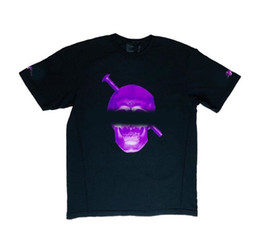 4617b6565df6 Men's T-shirt Bone Screw Dissolve Inkjet Big V Dallas POP Guerrilla Shop  Designer Cotton O-Neck Short Sleeve T-Sleeve Black Purple S-XL