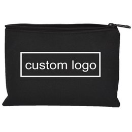$enCountryForm.capitalKeyWord Australia - 23 x 16cm Custom Black Waterproof Oxford Cloth Bag Zipper Storage Instrument Case Pouch Tools Kit Bags 2000pcs lot
