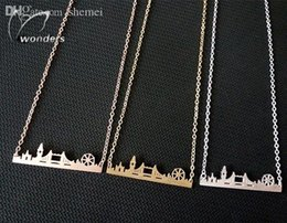 London pendants online shopping - Skyline Fashion Jewelry Gold Silver Rose Gold Friendship Gift Stainless Steel Cityscape London Necklace Pendant
