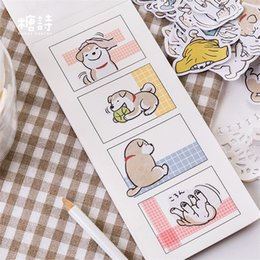 $enCountryForm.capitalKeyWord Australia - 45Pcs set kawaii bookmark style novel cute dog pattern Diary stickers planner office decor school supplies stationery