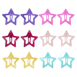 Hair Clips For Babies Australia - 12PCS Colorful Safe High Quality Star Shape Hairpins Headwear Barrettes Hair Clips for Baby Girls Teenagers Children