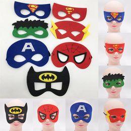 $enCountryForm.capitalKeyWord Australia - Girls Boys cosplay Mask 7 styles Halloween Dress Up Kids Birthday Party Supplies cute cartoon mask JY413