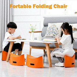 Discount small portable chairs - 1pc Portable Stool Folding Chair Outdoor Camping Hiking Hunting Fishing Small Seat Home Garden Work Stools Multifunction
