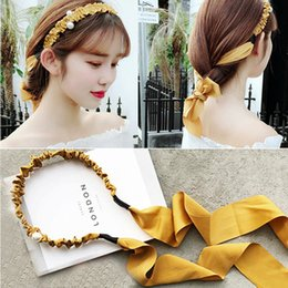 vintage hair wigs NZ - Vintage Ribbon Bezel Hairband For Woman Girls Pearl Headband Ladies Hair Accessories Fashion Hair Hoop Styling Headwear Accessories