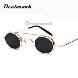 $enCountryForm.capitalKeyWord Australia - Small Round Steampunk Sunglasses Men Women Retro Metal Clip On Steam Punk Sun Glasses For Male Vintage Gothic Goggles