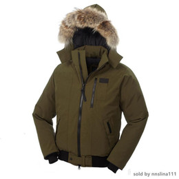 winter parka jackets for men Australia - Fashion Classic Style Down Jacket for Men Coyote Fur Middle Style Coat Winter Warm Borden-Bomber Men Parka Borden Bomber Jacket