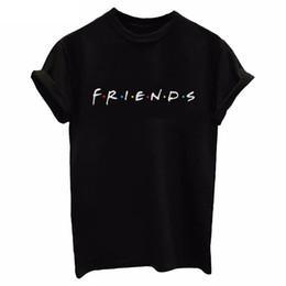 Square Shirt women online shopping - Friends Tv T Shirt Women Short Sleeve Art Letter Print Letter Femme Tshirts Female Tee Slim Soft Cozy Lady