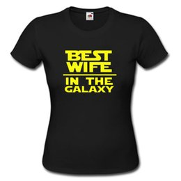 Best lady t shirts online shopping - BEST WIFE IN THE GALAXY T SHIRT S XXL LADY PARODY FUNNY GIFT Harajuku Tops t shirt Fashion Classic Unique