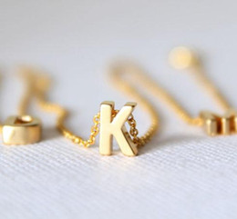 best wedding pendant Australia - Tiny gold initial necklace gold letter necklace initials name necklaces pendant for women girls .best birthday gift