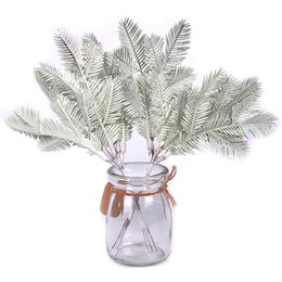 $enCountryForm.capitalKeyWord UK - 6pcs lot Pine Needle Leaf Artificial Flowers For Wedding Home Decoration Diy Handcraft Wreath Gift Scrapbooking Fake Flowers