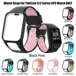 Gps Accessories Wholesale Australia - 9 color TomTom Runner 2 3 Spark 3 Replacement Silicon Band Strap Breathable Band GPS Watch Accessories VS Fitbit Charge 2 Strap