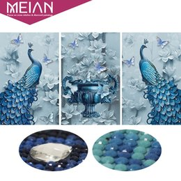 DiamonD painting peacock online shopping - Meian Special Shaped Diamond Embroidery Animal Peacock Full D DIY Diamond Painting Cross Stitch D Diamond Mosaic Picture Decor