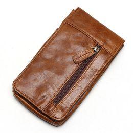 Travel Bum Bags Leather Australia - 2019 Genuine Leather Vintage Waist Packs Men's Travel Fanny Pack Belt Loops Hip Bum Bag Waist Bag Mobile Phone Pouch