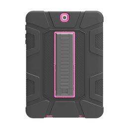 Silikon + Hart PC Tablet Hybrid Ständerabdeckung für Samsung Galaxy Tab S3 9.7 T820 Case mit Standfuß